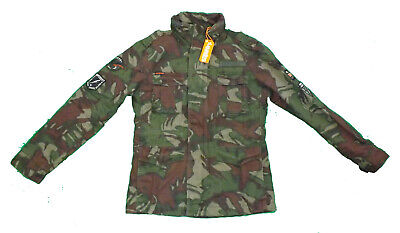 Superdry Hero Rookie Military Jacket Outlined Camo size L Large NWT New [GS P]