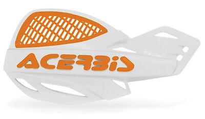 ACERBIS UNIKO VENTED HANDGUARDS WHITE ORANGE MOTOCROSS MX ENDURO CHEAP PAIR KTM