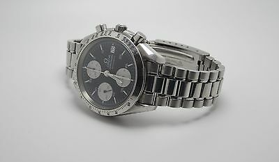 OMEGA SPEEDMASTER MENS AUTOMATIC BLACK FACE TACHYMETER WATCH