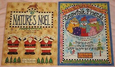Snowflake Friends & Nature's Noel by Kari Pearson K.P. Kids & Co 1990s Craft Bks ()