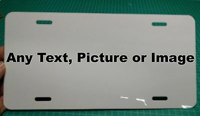 Personalized Aluminum Metal License Plate Customize with Text and or (Customise Or Customize)