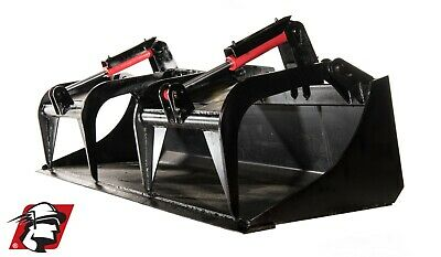76 Demorecycling Dual Cylinder Grapple Bucket Track Loader Attachment For Cat