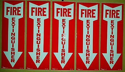 4x12 Vinyl Fire Extinguisher Sign Self Adhesive  5pk Wow What A Deal