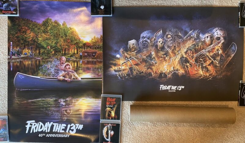 Friday The 13th Deluxe Collection Shout Factory Poster Only NO BOX SET