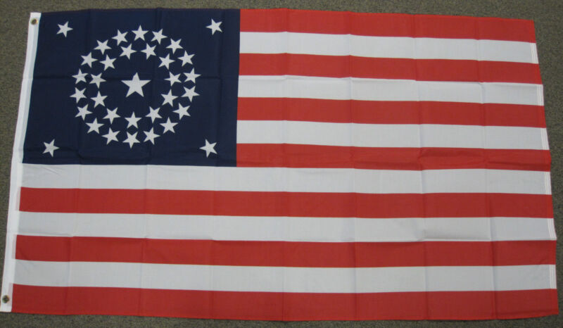 3X5 34 STAR USA FLAG AMERICAN US CIVIL WAR BANNER F004