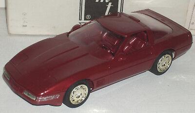 """Plastic Promo Car 1991 Chevrolet Corvette Rich Red 7"""" New in Box"""