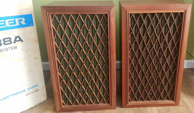 PR VTG Pioneer CS-88a HIFi Speakers w FB cones 4-way 6 drivers 1 in Original Box