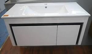 New KDK PB-900 White & Black Wall Hung Bathroom Vanity Melbourne CBD Melbourne City Preview