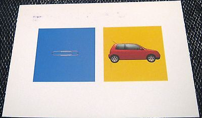 Advertising Cars Automobiles Volkswagen Lupo - posted 1999