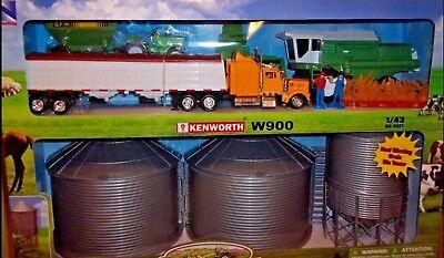 Kid New Ray Country Life Ranch GRAIN BIN FARM SET with HAULER Semi TRUCK Trailer - Farm Grain Truck