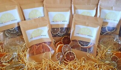 Dehydrated/ dried fruit 7 x 36g packs. Garnish cocktails and mocktails. Citrus.