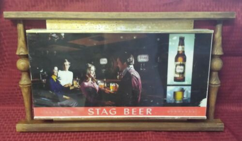 "RARE Vintage ""STAG BEER"" Lighted Hanging Bar Sign 25"""