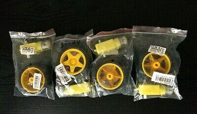 4 Pcs Robot Car Plastic Tire Wheel W Dc 6v Gear Motor Set For Arduino