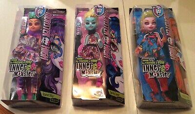Lot of 3 Monster High Inner Monster Add On Accessory Kits for Dolls - NIP