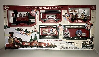 Disney Parks 30 Piece Mickey & Friends Christmas Train Set Complete