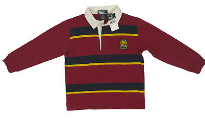 Little Boys Rugby (NEW Polo Ralph Lauren Little Boys Rugby Shirt!  Green, Navy & 4 Stripe)