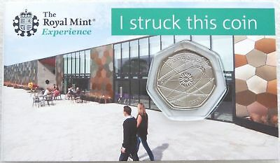 2018 Royal Mint Sir Isaac Newton 50p Fifty Pence Coin Pack Uncirculated