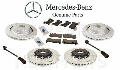 Mercedes W212 E63 AMG 2010 GENUINE Front and Rear Brake KIT Rotors Pads Sensors
