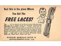1930/'s Ornate Alox Shoe Lace Decal//  Old Store Stock
