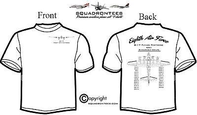 8th Air Force B-17 Bombardment Groups Squadron T-Shirt - Premium Art