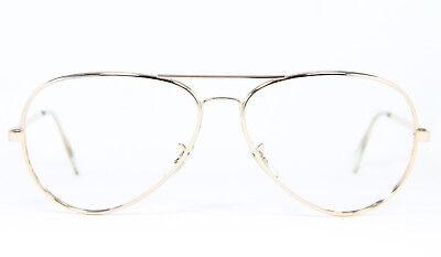 BAUSCH & LOMB B&L Gold Filled Vintage Brille Eyeglasses Aviator Oversized XXL