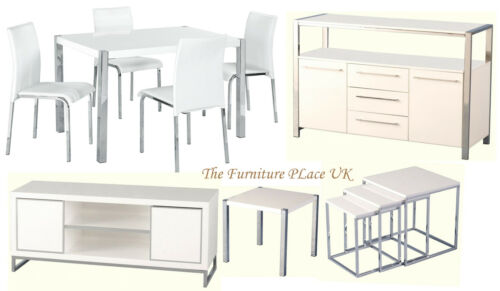Charisma Dining Set in High Gloss White Lamp Table TV Unit  : 12 from www.ebay.co.uk size 500 x 291 jpeg 19kB