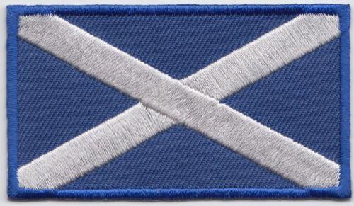 Scotland Saltire Rectangular Flag Embroidered Patch - LAST FEW