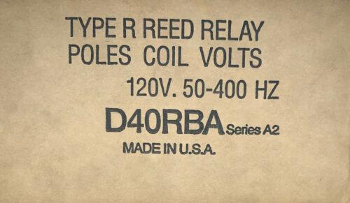 Eaton Cutler Hammer D40RBA 120 V Type R Reed Relay 50-400 Hz Powereed