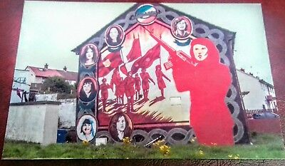 IRISH REPUBLICAN POSTCARD WALL MURAL SINN FEIN BELFAST DERRY THE TROUBLES 54