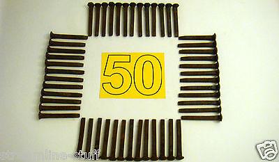 "LOT of 50 Used Carbon Steel 6.75"" Large Variety Vintage Railroad Spikes"