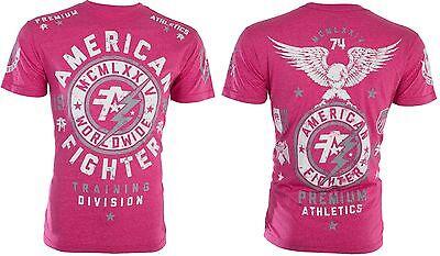 American Fighter Mens T Shirt Madison Eagle Pink Athletic Biker Gym Mma Ufc  40