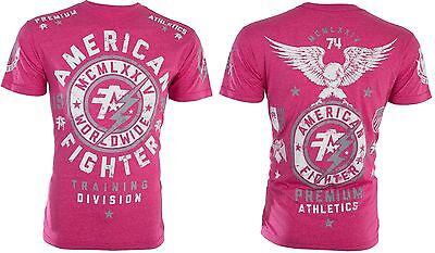 ceac80c7 купить mens american fighter worldwide, с доставкой AMERICAN FIGHTER Mens  TShirt MADISON Eagle PINK Athletic