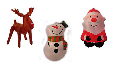 Inflatable Christmas Snowman Santa Reindeer Novelty Xmas Blow Up Decoration - Blow Up Reindeer Decorations
