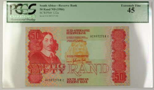 (1984) No Date South Africa 50 Rand Reserve Bank Note SCWPM# 122a EF-45