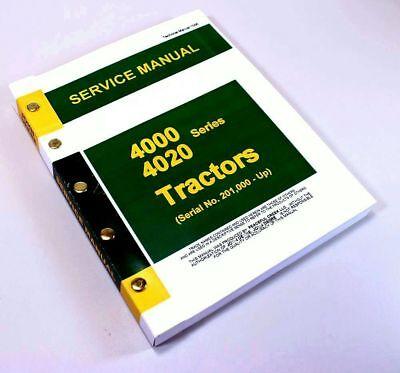 Service Manual For John Deere 4020 4000 Tractor Technical Service Repair Tm-1006