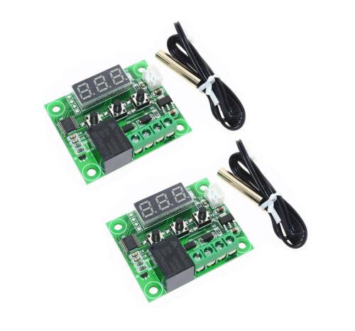 2x 50-110 Celsius 12V W1209 Digital thermostat Temperature Control Switch sensor