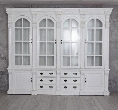 Biblioteca Blanco Armario Vitrina Caoba Pared de Salón Escaparate Gabinete Salón