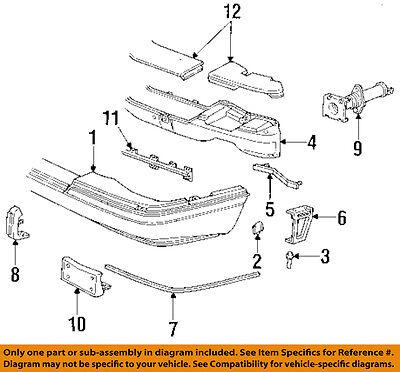 Cadillac GM OEM 92-97 Seville-Bumper Trim-Molding Trim 25655096