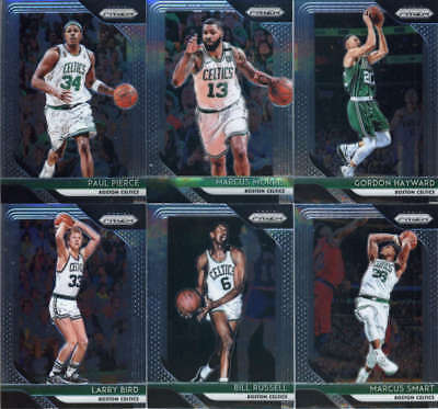 2018-19 Panini Prizm Basketball Veterans Boston Celtics Team Set of 12 Cards