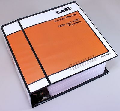 CASE 1490 1690 TRACTOR SERVICE TECHNICAL MANUAL REPAIR SHOP IN BINDER