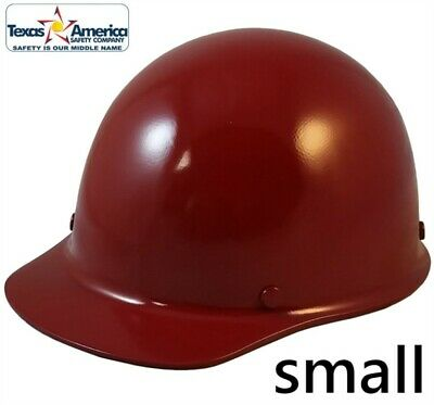 Msa Skullgard Small Cap Style With Ratchet Suspension - Maroon
