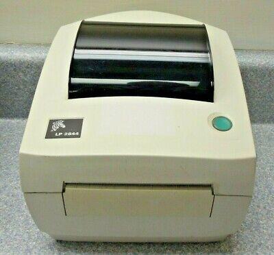 Zebra TLP 2844 Label Thermal Printer 2844-20300-0001 w/Power Supply Manual on -