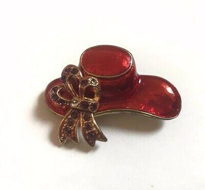 Women's Costume Jewelry Red Hat Pin Free -