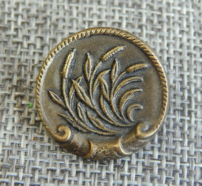 1 1800 art nouveau silver cast iris button 18mm diameter.