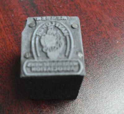 Vintage Metal Wood Mayflower Warehouse Letterpress Print Block Stamp