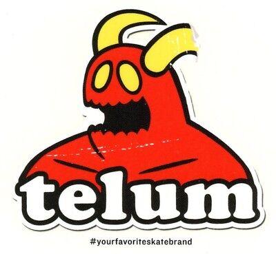 Telum Skateboard Sticker Rot Weiß Transparent 9,5cm Rund