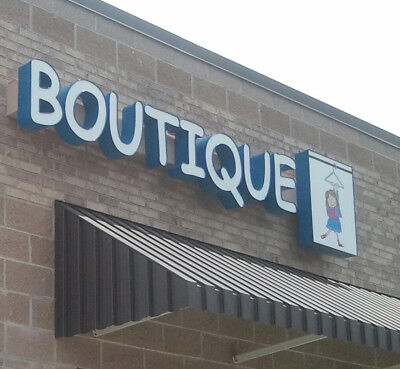 Lighted Business Outdoor Sign20 Channel Letters Boutique Plus Boxon Raceway