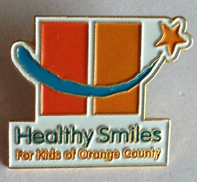 Healthy Smiles For Kids Of Orange County Dental Pin Badge Rare Vintage