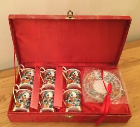 Beautiful set of six Japanese fine China cups and saucers- brand New, never out of box