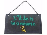 Wholesale Joblot Clearance Stock of SLATE SAYINGS MADE FROM SLATES VERY HEAVY ONLY 40p MUST GO
